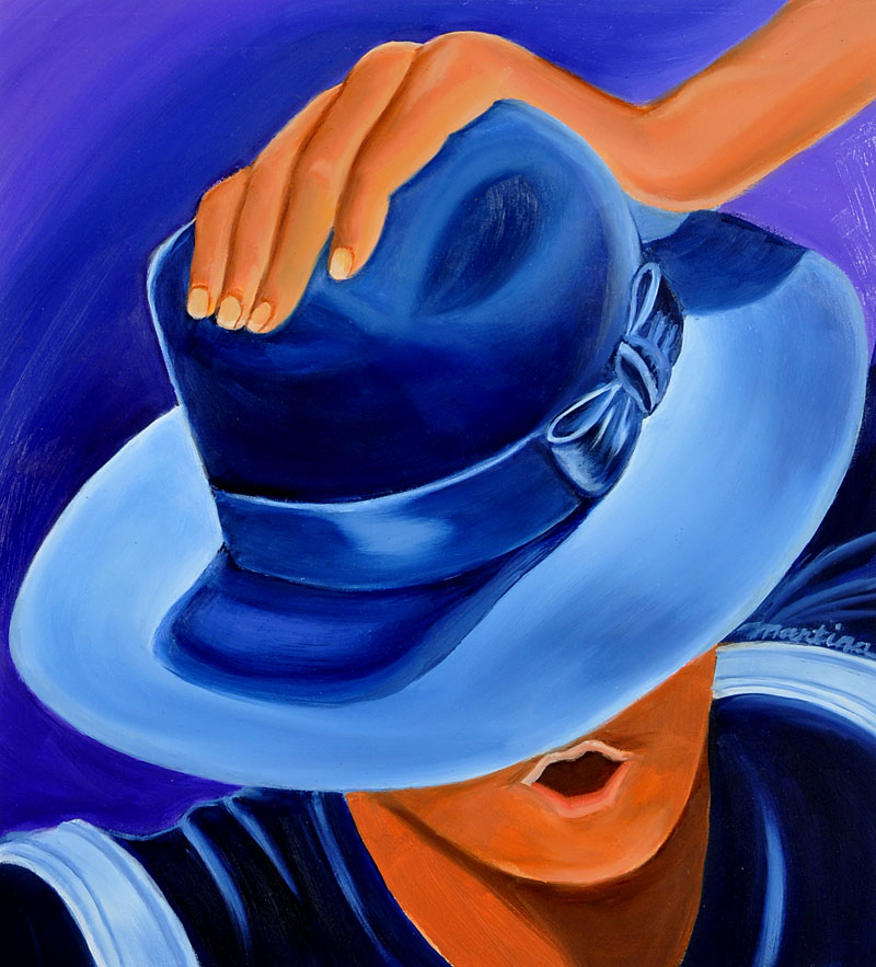 Fedora 2 painting by Martina Leslie