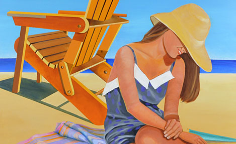 Girl with Adirondack Chair